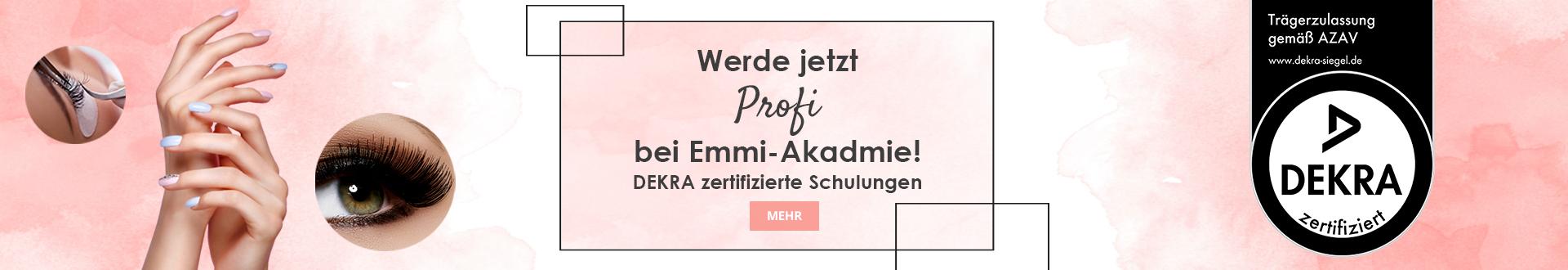 Banner zertifizierte Schulungen Emmiakademie Deutschland